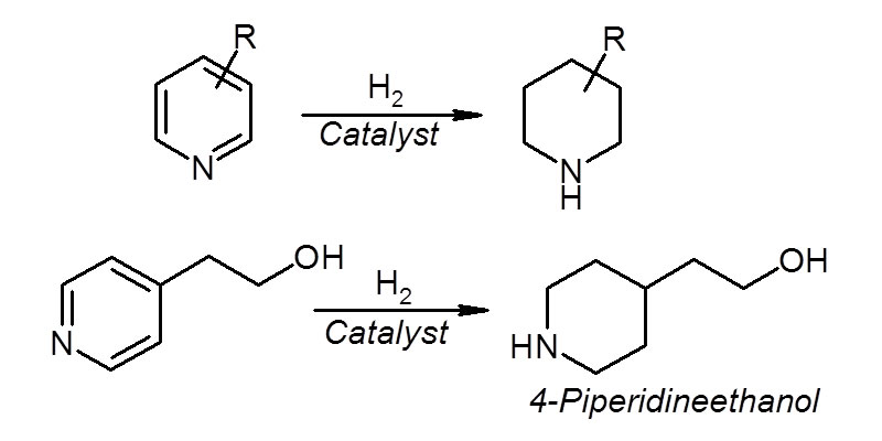 (4) Hydrogenation of Heteroaromatic Ring (Intramolecular heterocyclization)